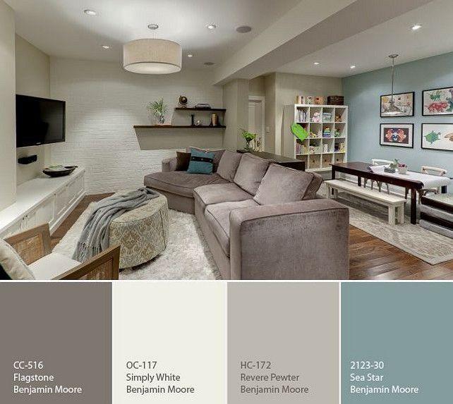 Basement Color Palette Great color palette for basement - paint schemes for living rooms