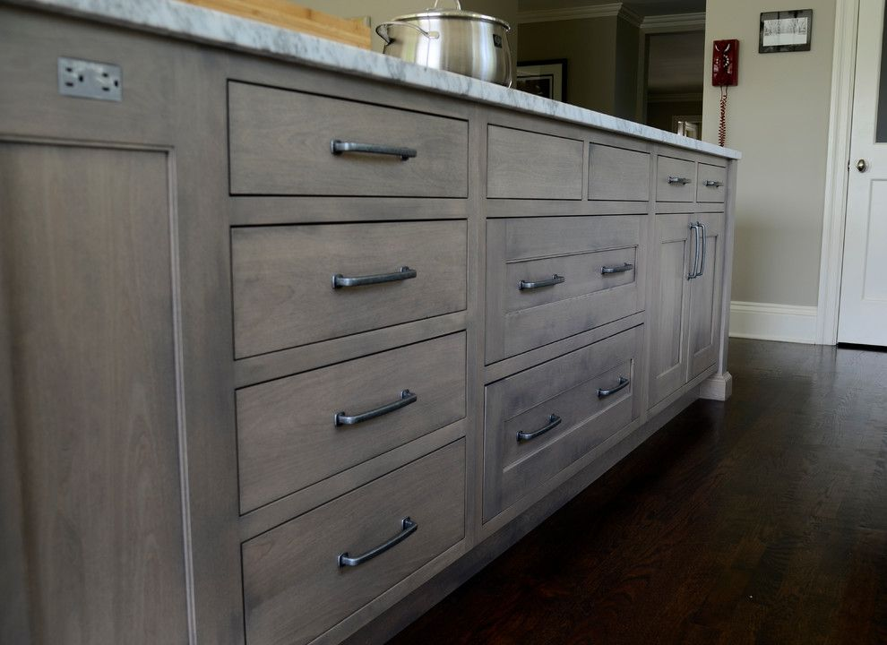 cabinet stain colors Kitchen Transitional with built