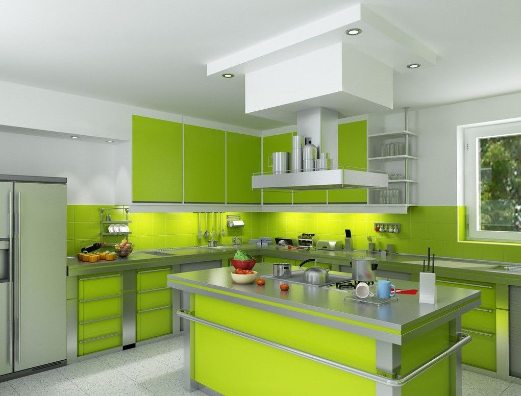 White Green Kitchen Ideas Green-white-kitchen-design.jpg 1,021×776 Pixels | Ideas
