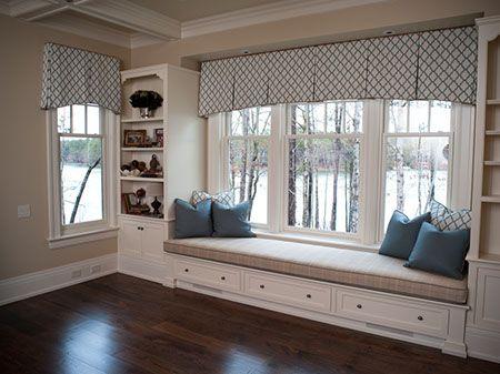 Large window valance for client Mack Same curve as kitchen - valances for living room