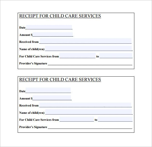 Daycare Receipt Template u2013 12+ Free Word, Excel, PDF Format - free receipts templates