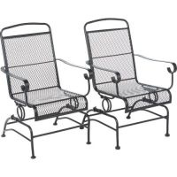 Outdoor Steel Mesh Patio Rocking Chair Set Mosaic https ...