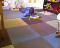 Muted playroom floor... Really like the different colors ...