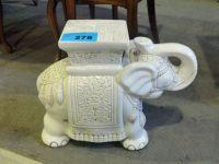 Ceramic white elephant plant stand | Creatures | Pinterest ...