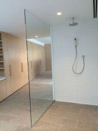 Single Panel Floor to Ceiling Frameless Shower screen ...