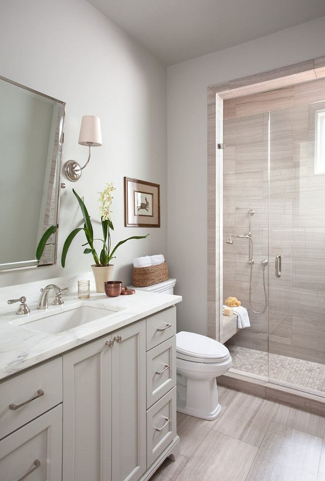 20 Stunning Small Bathroom Designs Grey white bathrooms, White - gray and white bathroom ideas