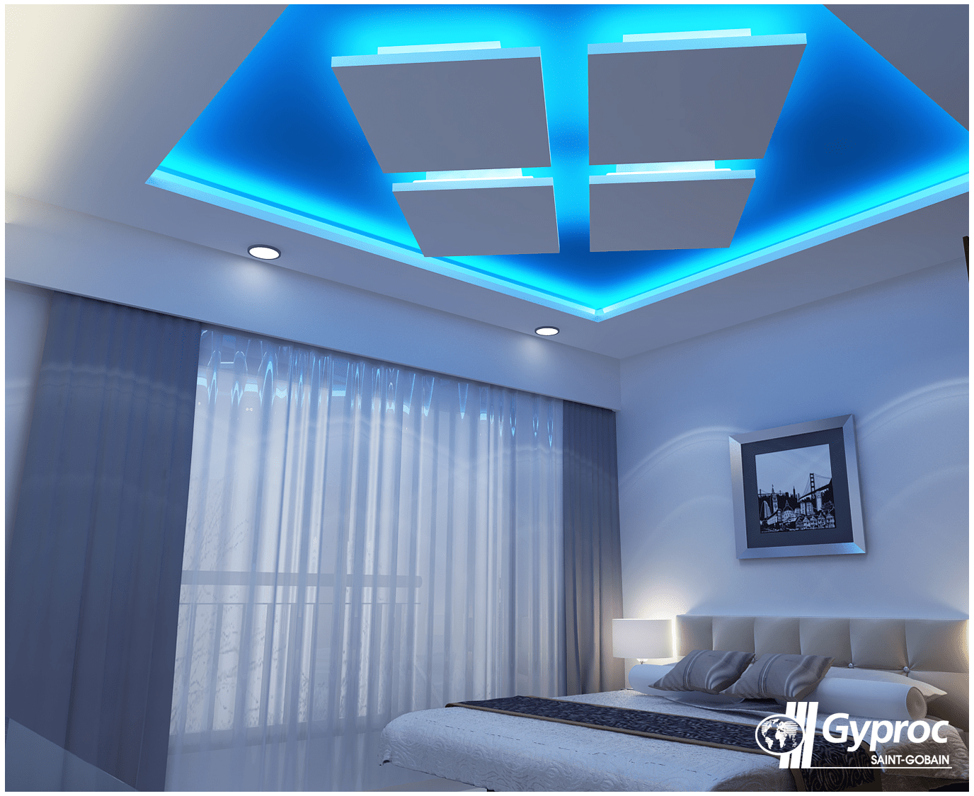 Ceiling Design For Small Room Brighten Your Bedroom With A Ceiling Like This One To