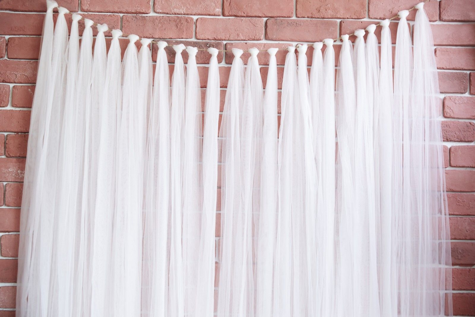 Diy Wedding Backdrop With Lights Tulle Strip Garland Backdrop Merrylove Weddings