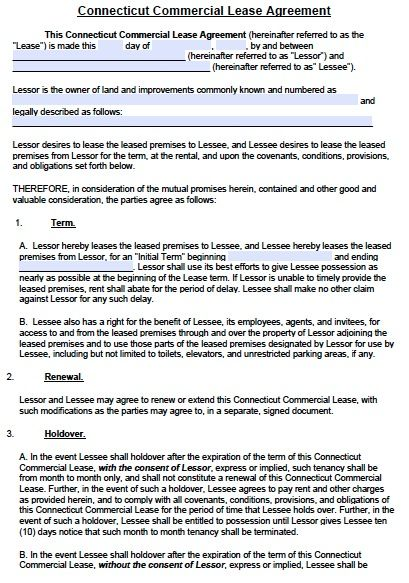 commercial office lease agreement template commercial lease