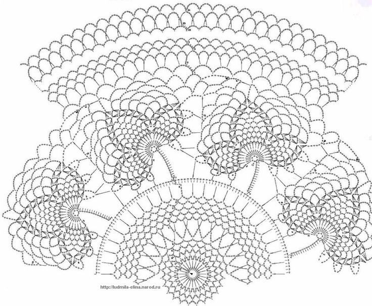 crochet doily diagram crochet pinterest
