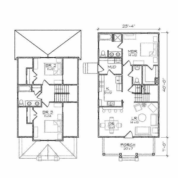 Architecture, Clever Bungalow Floor Plan Two Story House Plans - bungalow floor plans