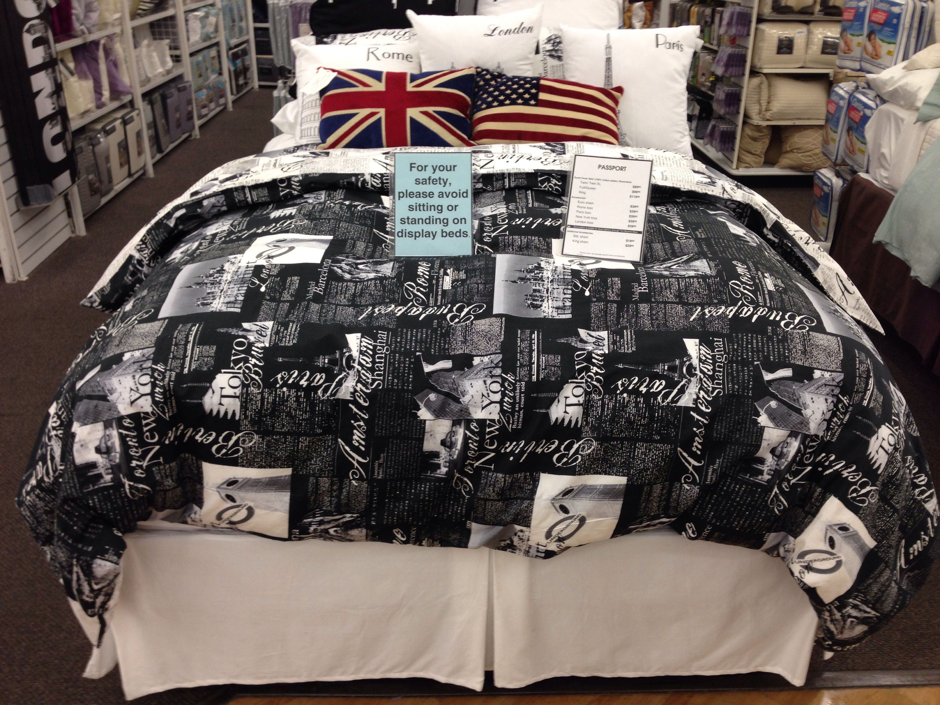 Passport Bedding Accessories Passport Bedding From Bed Bath Beyond Roomy Stuff