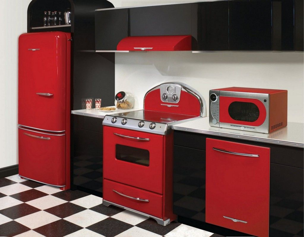 Küche Retro Modern Fascinating Retro Kitchen Design Ideas With Black And Red