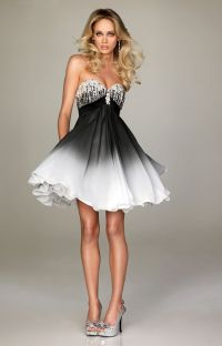 Short Prom Dresses Ideas | White ombre, Short prom dresses ...