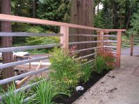 Railing option to consider. Galvanized pipe for clean look ...