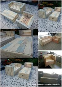 Outdoor Furniture Made with Pallets | Pallets, Round patio ...