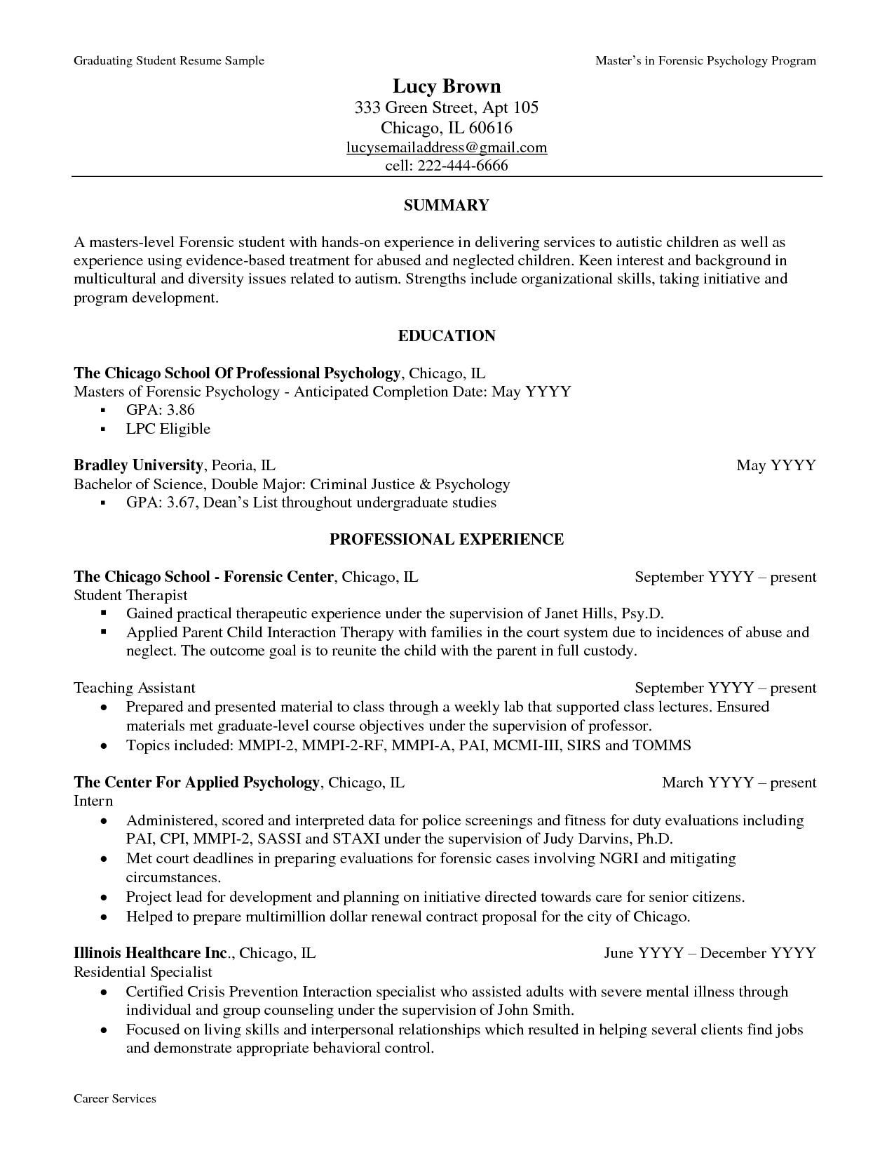 How To Write A Resume For Graduate School example of academic