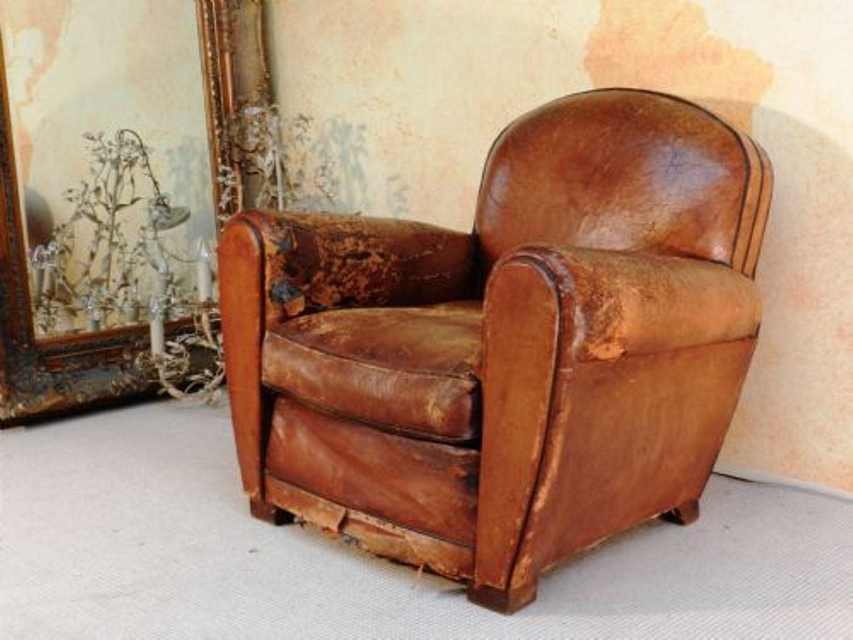 Distressed leather club chair hjzyxgb