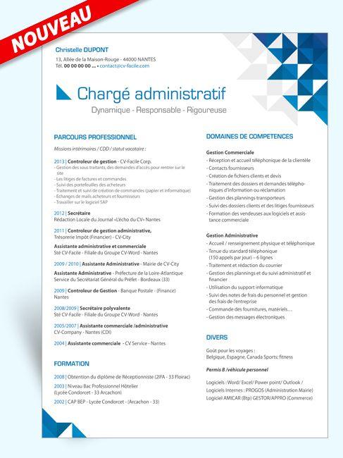exemple de cv pour un poste d'assistante administrative
