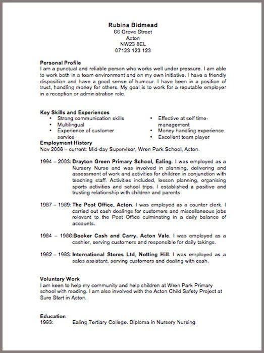... Cv Template 6 Resume Cv Design Pinterest Cv Template And   It Cv  Template ...