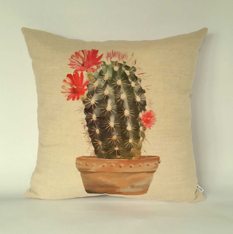 Cactus cushion, Cactus pillow, houseplants cushion