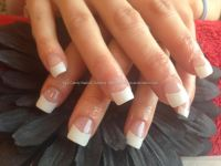 Full set of acrylic nails with white tips | hair and ...