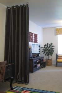 How to Hang Curtain Room Dividers - http://appworship.com ...