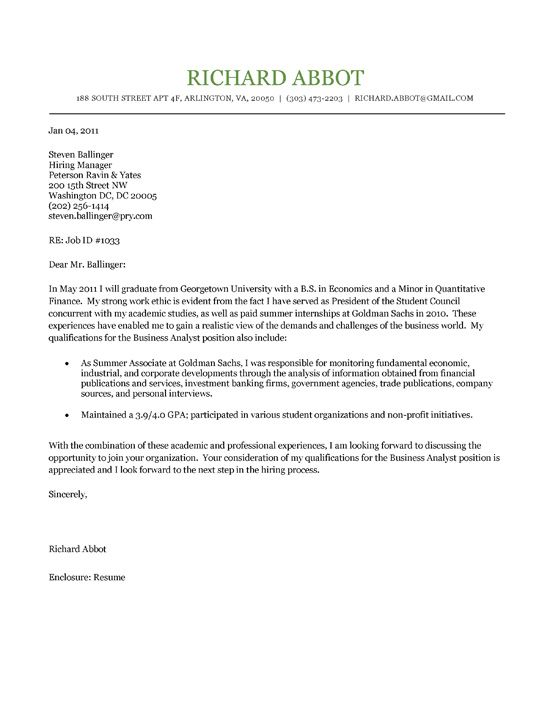 Student Cover Letter Example Cover letter example, Letter - how to write cover letter for job