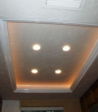 Another tray ceiling/recessed lighting idea to replace the ...