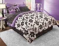Best Black White and Purple Bedroom | Bedroom and Bedding ...