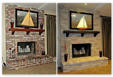 1000+ Images About Brick Anew/ Fireplace Brick Paint Kit On