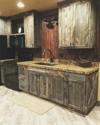 Cabinets out of old barn doors | Barnwood Crafts ...