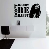 Dont Worry Be Happy (Bob Marley) Wall Decal The size of