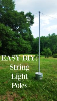 DIY string light poles in under one hour for less than