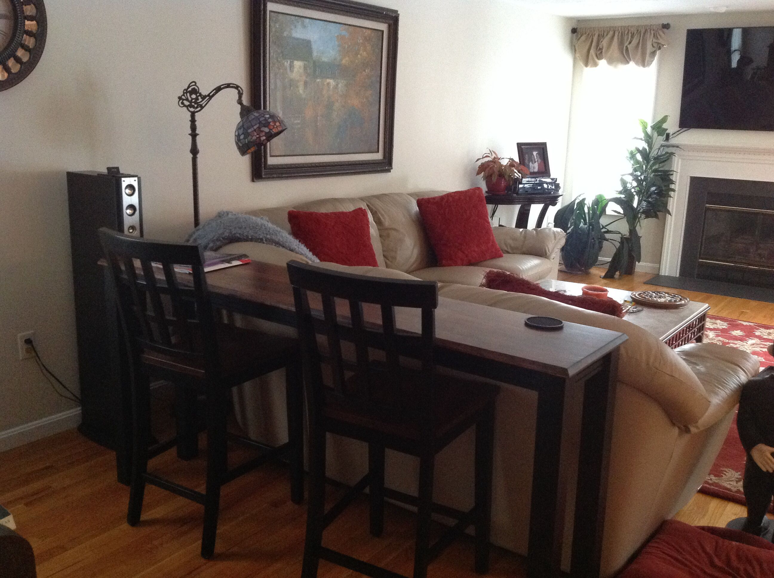 Bar Table Behind Couch House Pinterest Bar