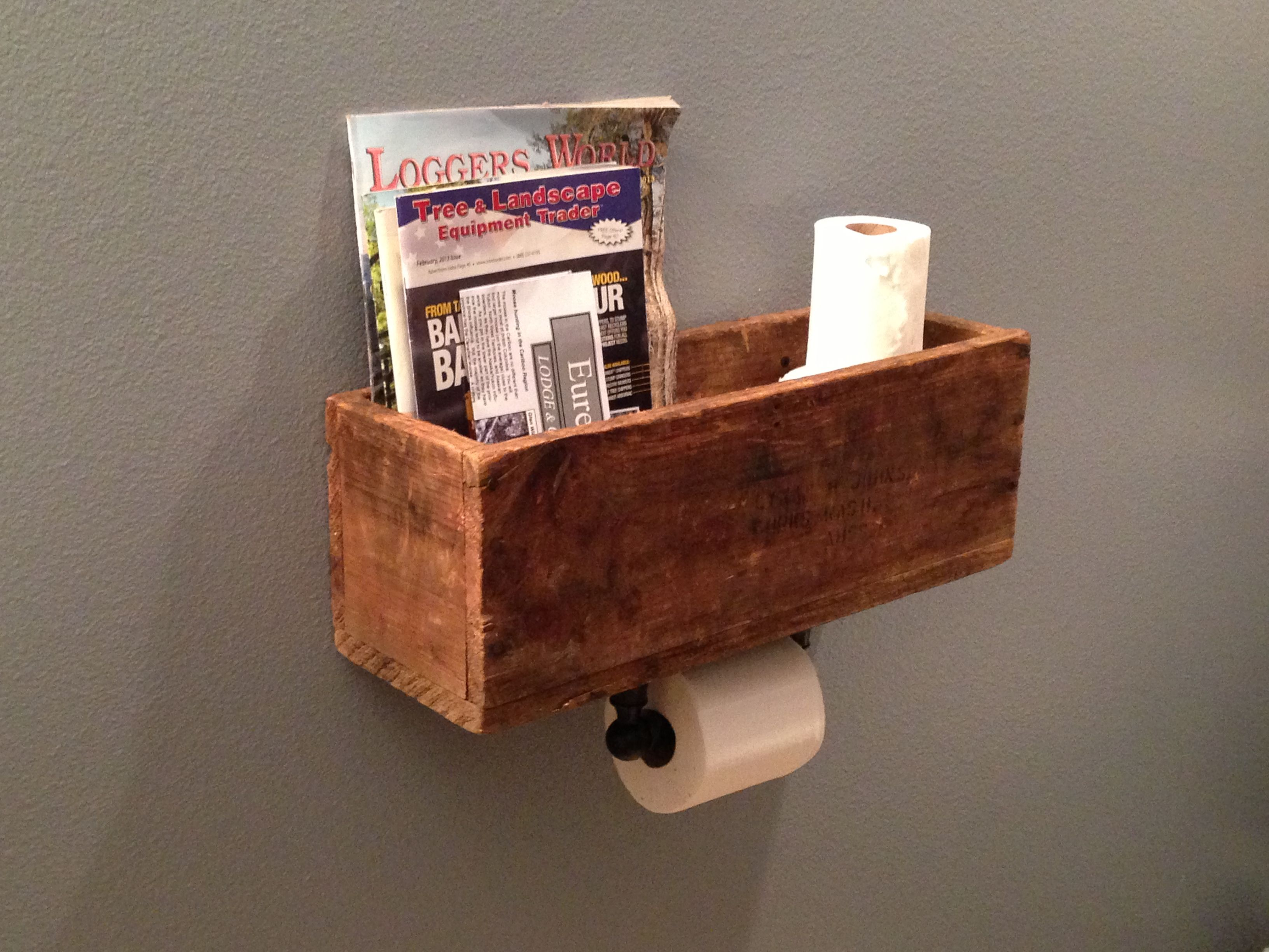 Toilet Paper Holder Rack Diy Magazine Rack And Toilet Paper Dispenser Very Clever