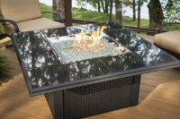 Exterior Electric Fires Black Marble Fire Pits Square ...