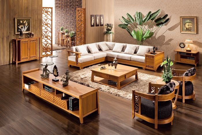 modern wooden sofa sets for living room - Google Search Decors - wood living room furniture