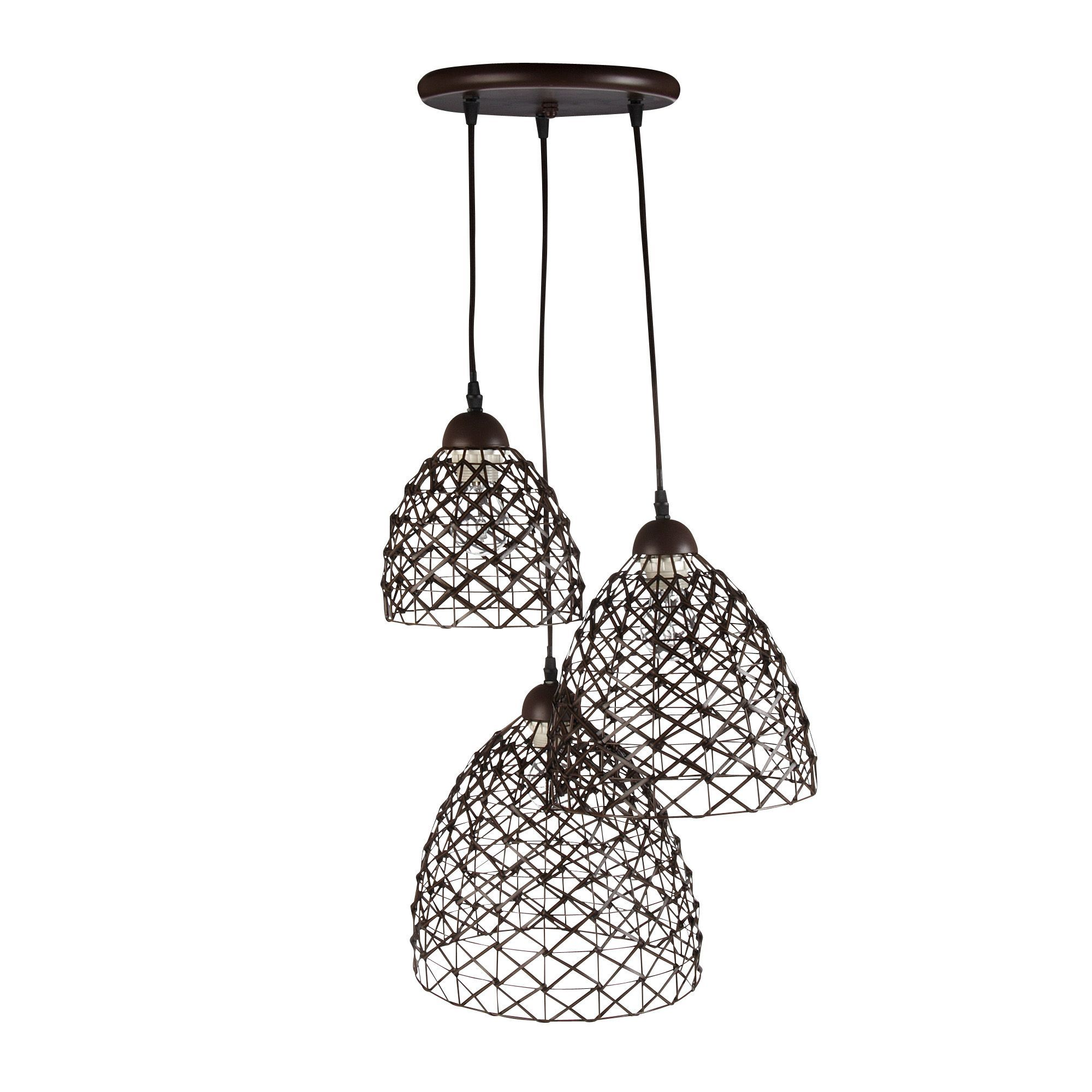 Suspension Luminaire Alinea Suspension 3 Lumières Chocolat Chocolat Naty Les