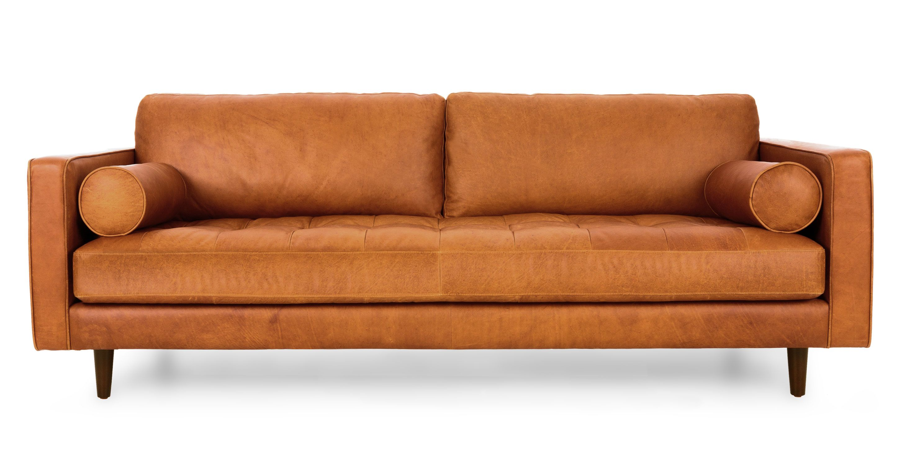 Couch Modern Tan Brown Leather Sofa Italian Leather Article Sven