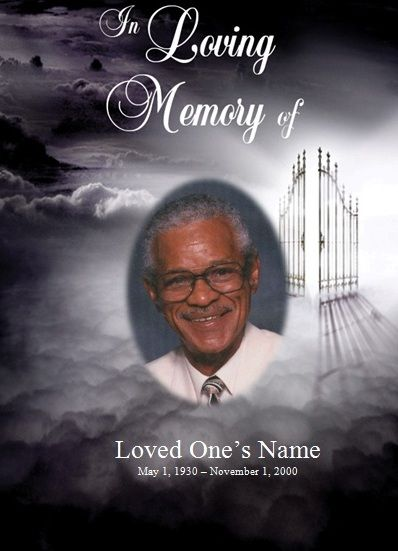 Heavenu0027s Gate Memorial Service Template for Microsoft Word This - funeral program template microsoft