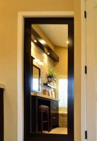 mirrored pocket door would be fab inside an walk in closet ...