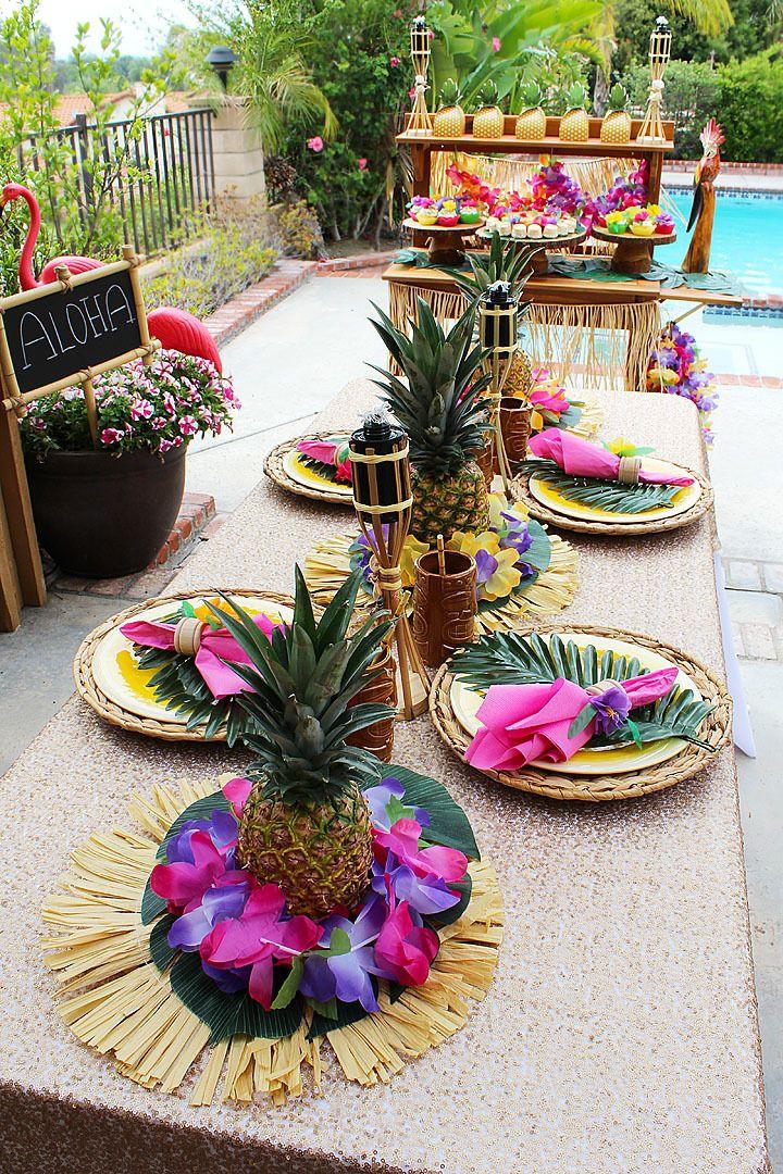 DIY Pineapple Centerpieces