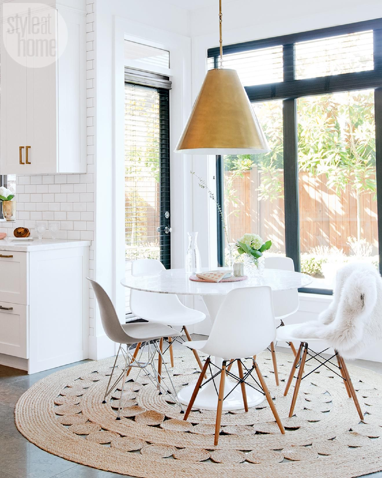 eat in kitchen table Interiors Round Dining TablesKitchen TablesEat