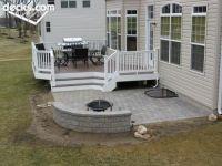 Deck leading to stone patio   decks   Pinterest   Stone ...