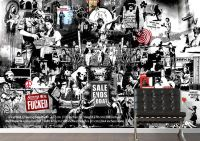 Banksy Collage 1Bw Banksy Wallpaper Murals A number of ...