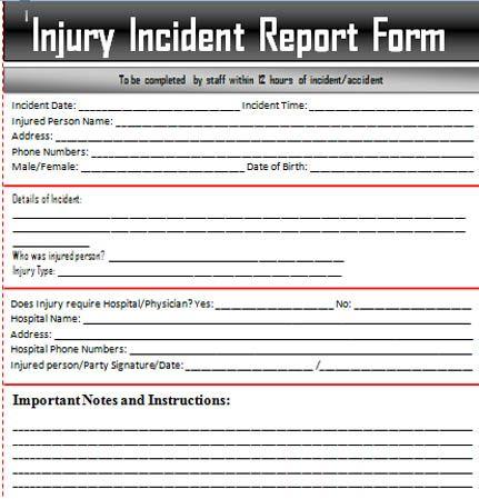 Sample Incident Report Letter Word u2013 Excel Templates ExcelTemp - incident reporting template