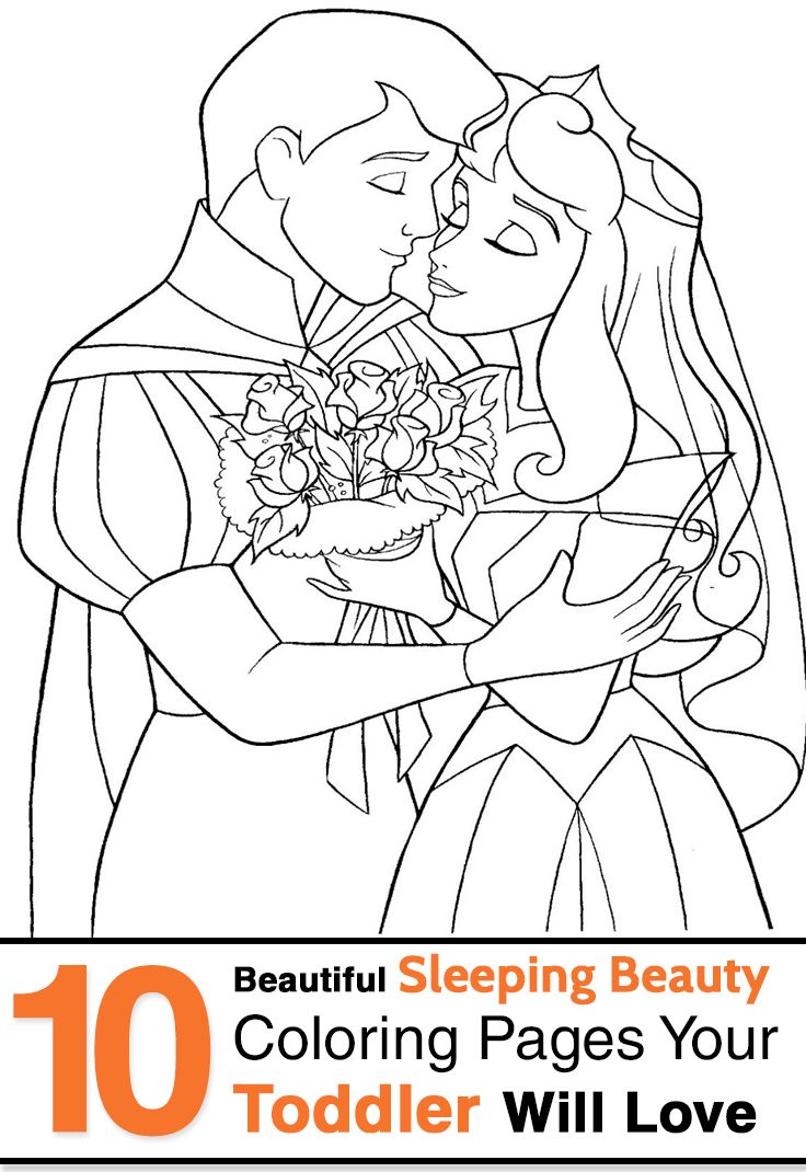 10 beautiful sleeping beauty coloring pages your toddler will love