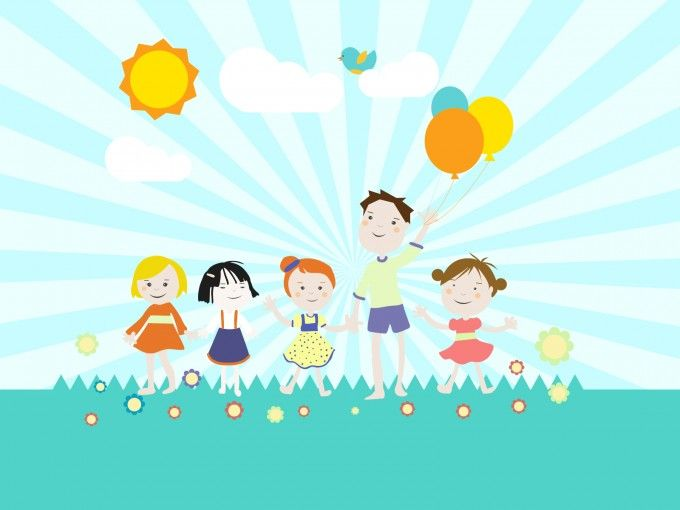 Childrens Playground Powerpoint Template is a powerpoint template - summer powerpoint template