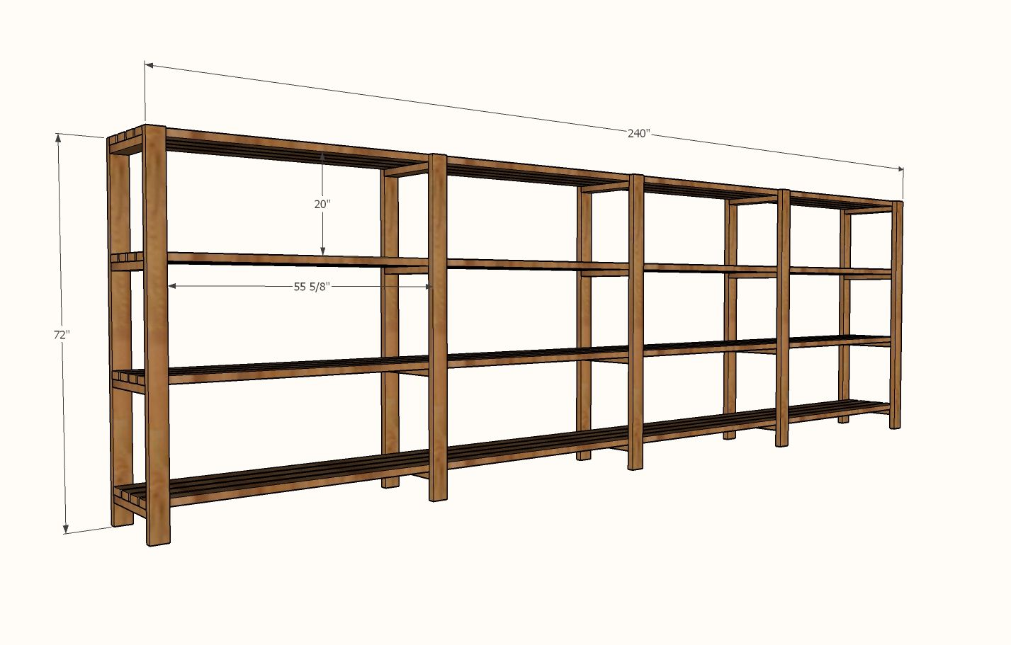 Build Garage Wall Shelves Ana White Build A Easy Economical Garage Shelving From